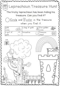 st patrick day worksheets for kids
