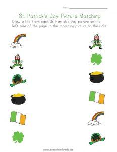 st patrick day worksheets for kindergarten