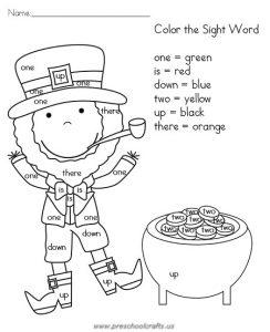 st patricks day color worksheets