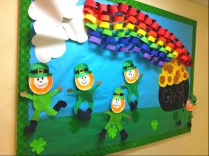 st patricks day - rainbow end of the gold bulletin board