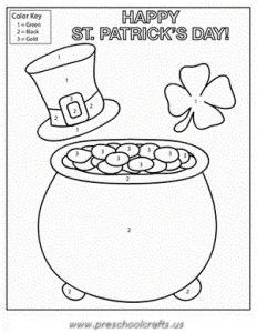 st patricks day worksheets for preschool