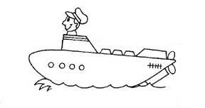 submarine coloring pages for preschool and kindergarten - free