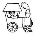 train coloring pages for preschooler