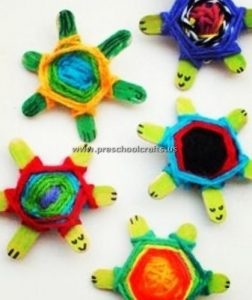 turtle popsicle stick crafts for kids
