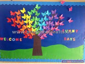 welcome spring seasons bulletin board ideas