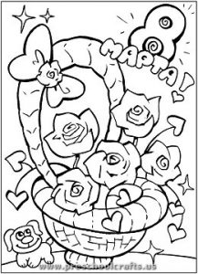 womans day coloring pages for kindergarten