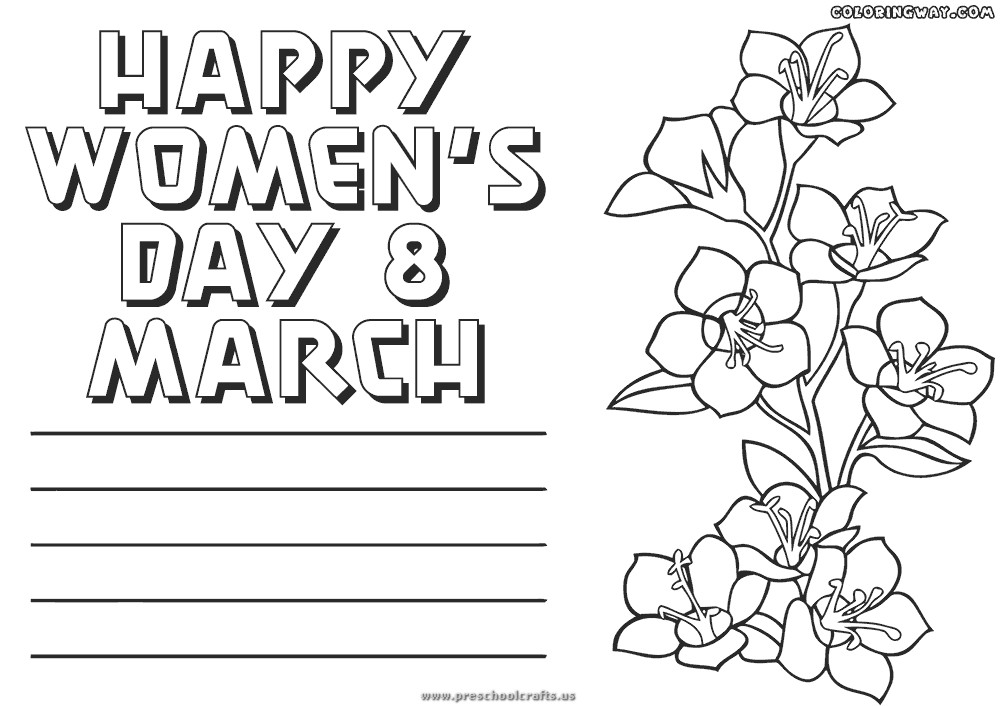 Womens Day Coloring Pages For Kids