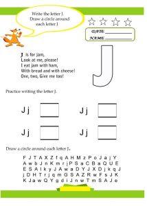 write the letter j for preschool