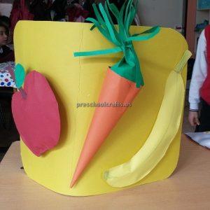 Apple Carrot Banana Craft Ideas for Kindergarten - Spring Fruits Craft Ideas