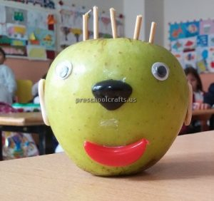 Apple Craft Ideas for Kindergarten - Spring Fruits Craft Ideas