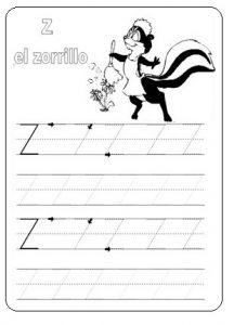 Capital letter Z worksheet - free printable