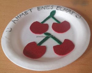 Cherry Craft Ideas for Kindergarten - Spring Fruit Craft Ideas