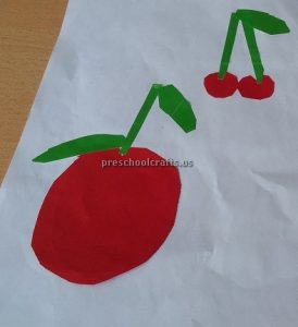 Cherry Craft Ideas for Kindergarten - Spring Fruits Craft Ideas