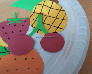 Cherry Strawberry Pear Orange Craft Ideas for Kindergarten - Spring Fruits Craft Ideas