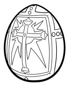 Coloring pages related to happy easter for Preschool