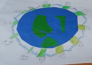 Craft ideas related to Earth Day Theme for Kindergartner