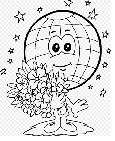 Earth Day Coloring Page for Kids