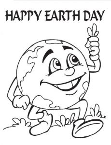 Earth Day Coloring Page for Pre-school