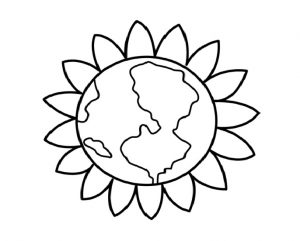 Earth Day Coloring Pages for Preschool