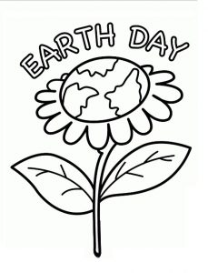 Earth Day Coloring Pages for Primary School