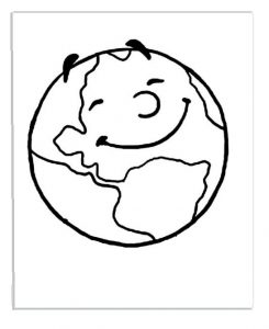 Earth Day Colouring Pages for Toddler