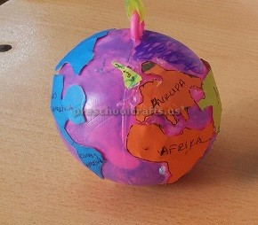 Earth Day Theme Craft Idea for Kindergarten
