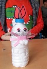 Easter Bunny Craft for Kids - Bottle Crafts