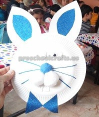 Easter Bunny Craft for Kids - Paper Plate