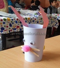 Easter Bunny Cup Craft Ideas for Preschool