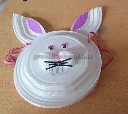 Easter Paper Plate Bunny Craft for Kids