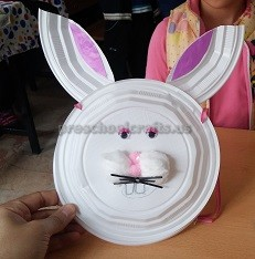 Easter Paper Plate Bunny Craft for Preschool