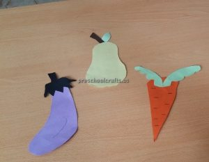 Eggplant Pear Carrot Craft Ideas for Kindergarten - Spring Fruits Craft Ideas