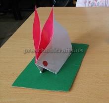 Folding Paper Easter Bunny Craft Ideas Kids