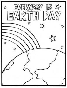 Free Earth Day Coloring Page for Preschool