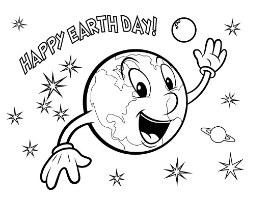 Free Printable Earth Day Coloring Page for Kindergarten
