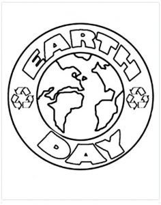 Free Printable Earth Day Coloring Page for Preschool