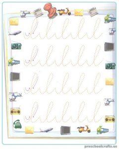 Free Printable Tracing Line Worksheet for Kindergartner