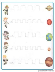Free Printable Tracing Line Worksheet for Pre-school