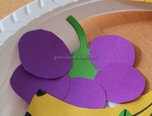 Grape Craft Ideas for Kindergarten - Spring Fruits Craft Ideas