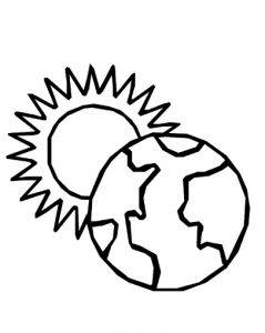 Happy Earth Day Colouring Pages for Preschool
