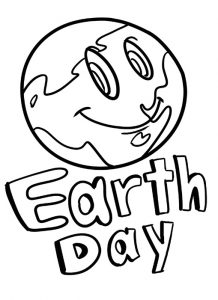 Happy Earth Day Colouring Pages for Primary School