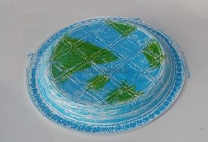 Happy Earth Day Paper Plate Craft Idea