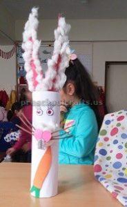 Happy Easter Bunny Craft for Preschool Kids