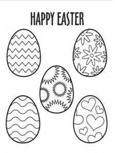 Happy Easter Egg Coloring Pages for Preschooler