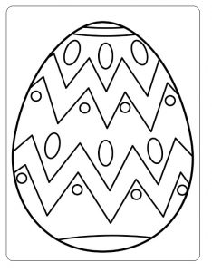 Happy Easter Egg Colouring Pages for Kids
