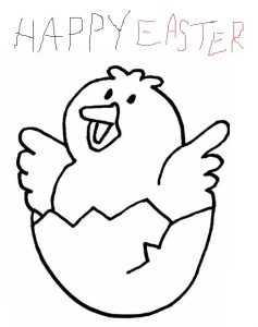 Happy Easter Egg Colouring Pages for Kindergartners