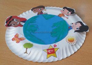 Kindergarten Earth Day Theme Paper Plate Craft Ideas