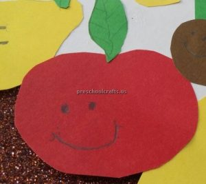 Kindergarten Spring Fruits Craft Ideas - Apple Craft Idea