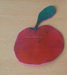 Kindergarten Spring Fruits Craft Ideas - Apple Craft Ideas