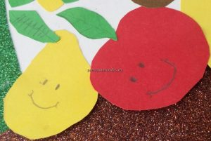 Kindergarten Spring Fruits Craft Ideas - Pear Apple Craft Ideas